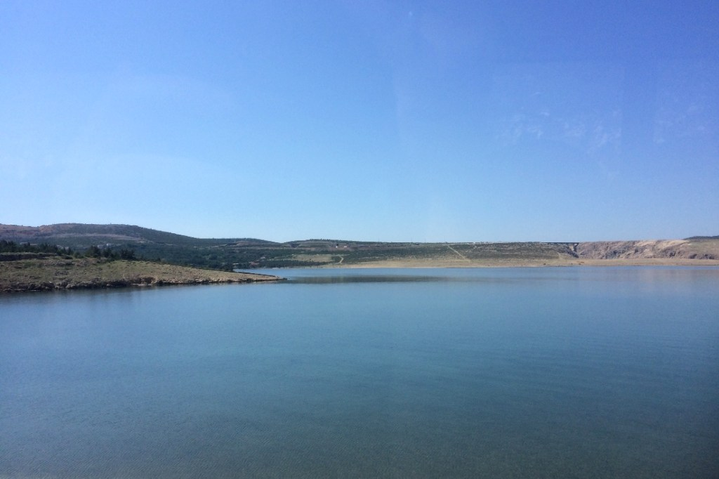 View from the bus between Zadar and Senj