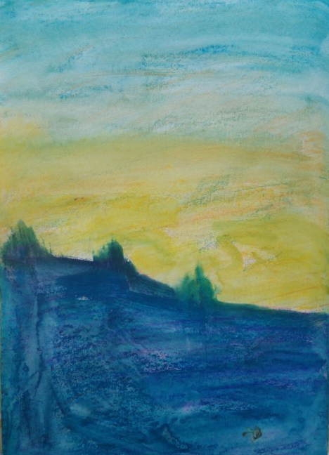 Abstact city landscape, watercolour AnneMarie Foley