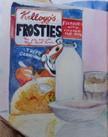Frosties, Still life, watercolour by AnneMarie Foley