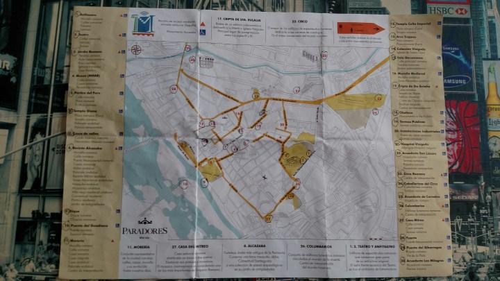 Tourist map of Mérida