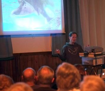 Philip Hoare captivates his audience (photo: Bob Coe)
