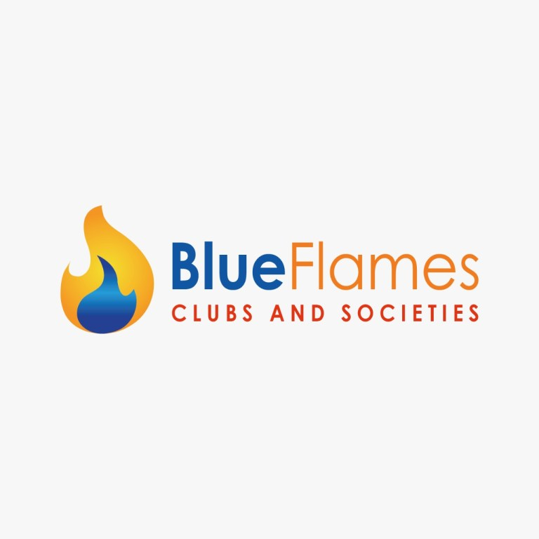 Blue flames clubs and societies brand