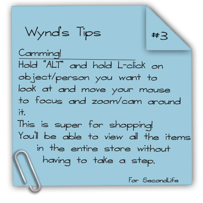 Wynd's Tips #3