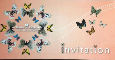 invitation for musee de papillion