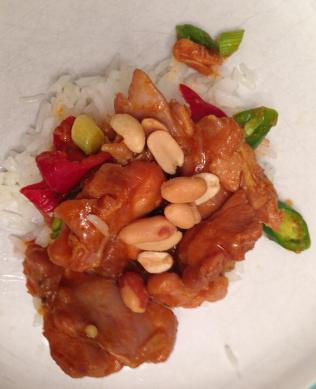 with peanuts and rice