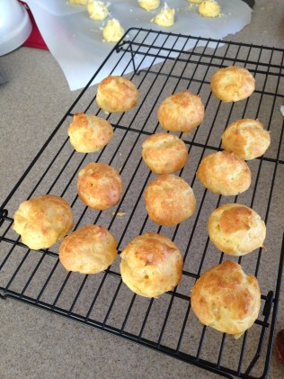 Gougeres cooling off