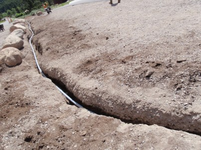 Trench line for electric line
