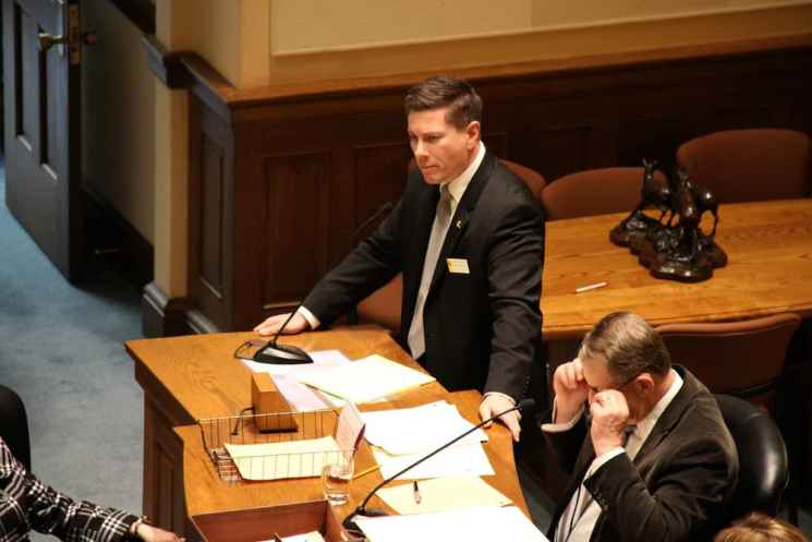 Rep. Nathan Winters (R-Thermopolis), a Baptist pastor, voted against the bill because of concerns about the bill's implication for freedom of conscience and free speech. (Gregory Nickerson/WyoFile)