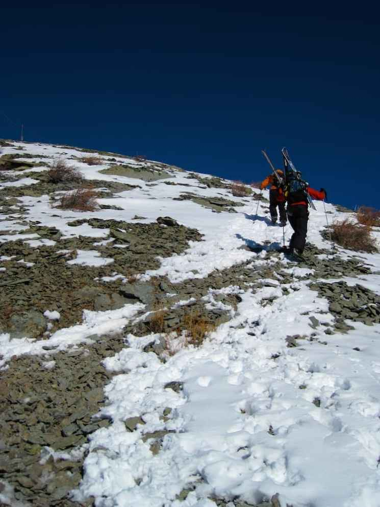 Dismal backcountry snow conditions in Alta, Wyo., Grand Targhee Resort. (Kendall Brunette)