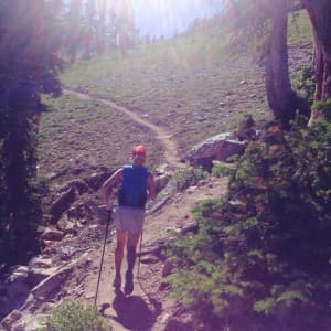 You can still make time for the mountains and keep a running routine when you take your workout to the trails. Meredith June Edwards is a former college track racer who trail runs in the summer and ski mountaineers in the winter. (courtesy Owen Leeper)