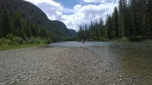 Clark's Fork of the Yellowstone River, in Clark's Fork Canyon, part of the Shoshone National Forest, July 2015. (courtesy Don Hopey)