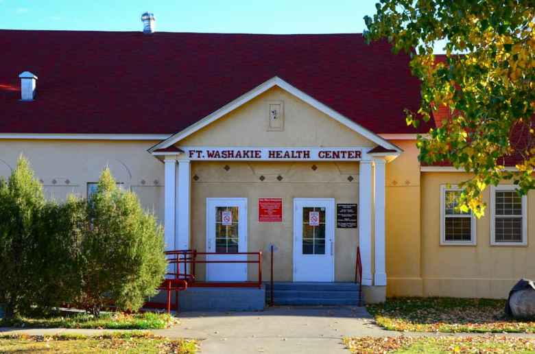 Built in 1884 to serve as a calvary commissary, the Fort Washakie IHS clinic is one of the few original IHS clinics still in operation today. (Matthew Copeland/WyoFile)