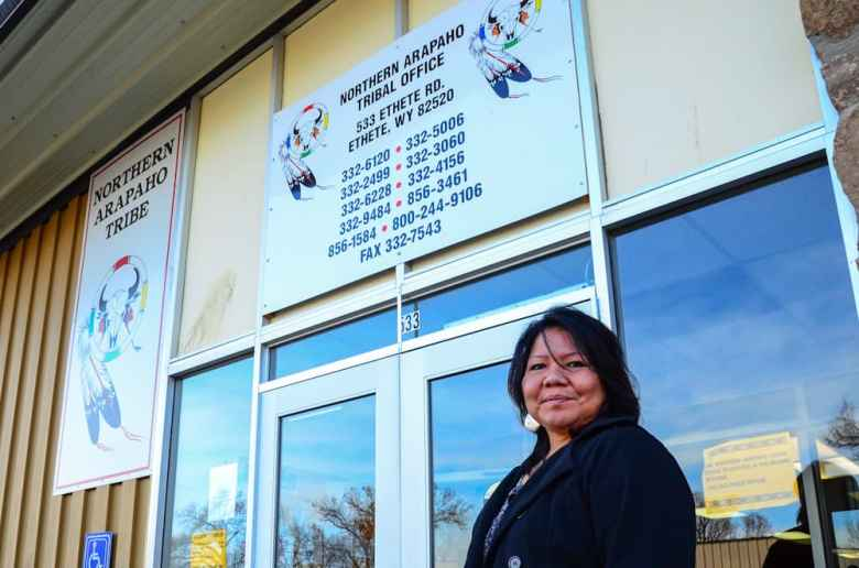 """Dr. Vonda Wells, who has the credentials and connections to work wherever she'd like, is committed to developing, mentoring and nurturing tribal programs back home in Ethete, Wyo., because she says """"We have the power to change the now."""" (Matthew Copeland/WyoFile)"""
