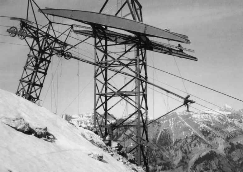 The aerial tram opened the second year Jackson Hole Mountain Resort operated. The resort world famous for its aerial tram. (courtesy Jackson Hole Mountain Resort)