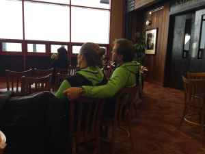 Kurt and Maureen Harter of Oregon, attended the church service Jan. 17 in the Rendezvous Lodge at the top of the Bridger Gondola before heading out to ski. (Photo by Kelsey Dayton)