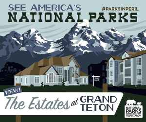 National Parks Conservation Association created this poster to draw attention to the need to preserve state school trust land in Grand Teton National Park. Gov Matt Mead hopes state officials will approve an agreement with the federal government to allow it to buy 640 acres by the end of the year for $46 million. (National Parks Conservation Association)