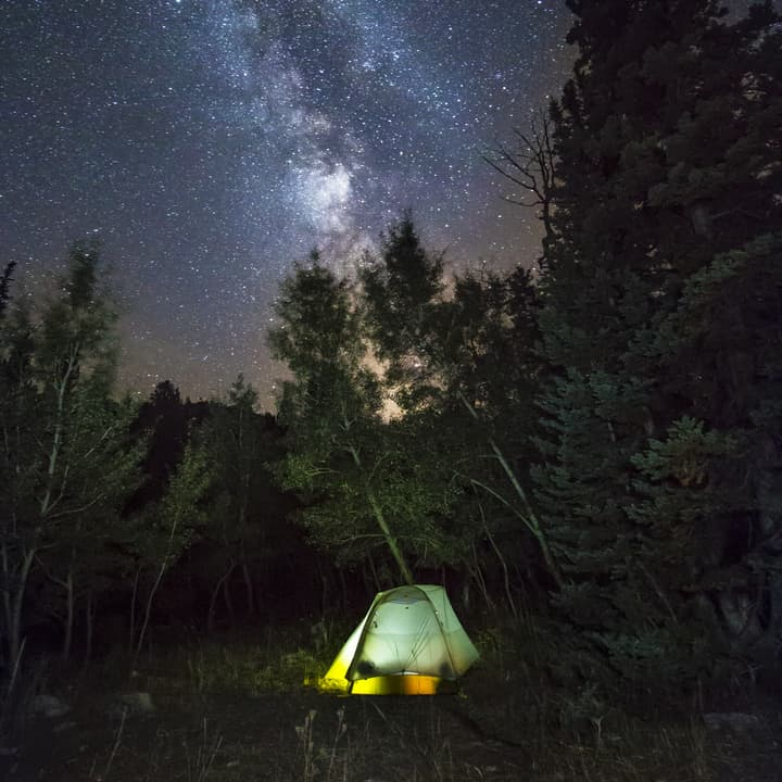 new study from the Pew Charitable Trusts shows the value of quiet recreation, like camping in the Ferris Mountains in Carbon County, on local economies. (Josh Milek)