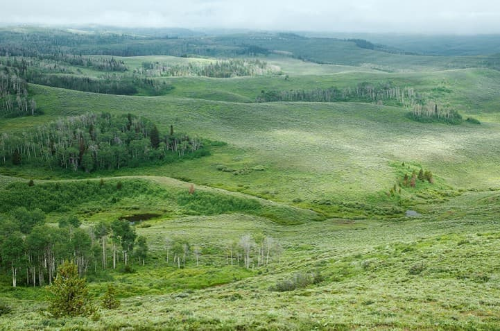 The Wyoming Range is a favorite place for sportsmen for hunting and fishing. Sportsmen and outfitters played a crucial role in helping protect a large swath of the area from oil and gas leasing. (Trust for Public Land)