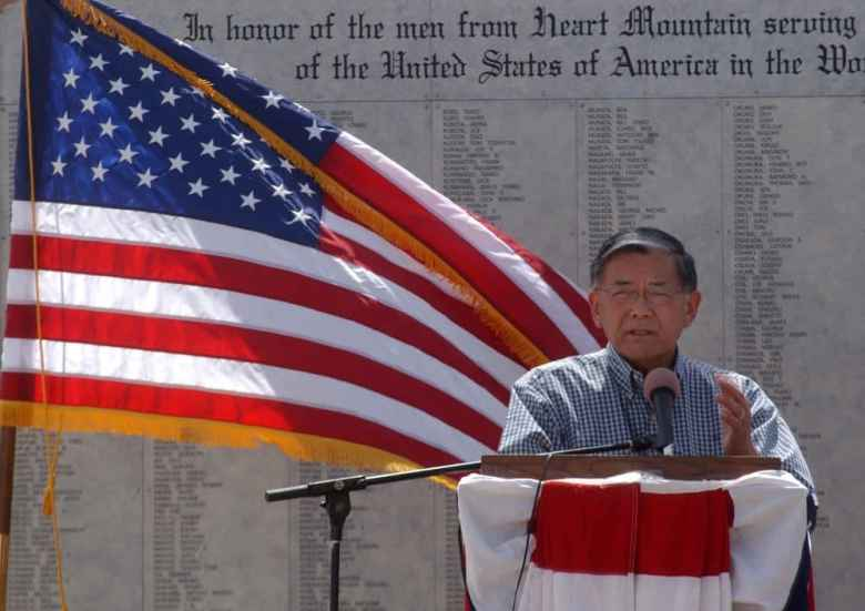 Former Transportation Secretary Norman Y. Mineta speaks during the August 2011 grand opening and dedication of the Heart Mountain Interpretive Center near Cody.