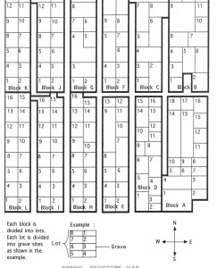 Bryon Cemetery Map