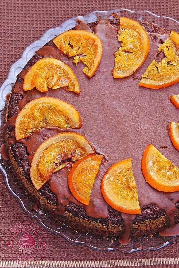 ciasto czekoladowe ze śliwkami suszonymi