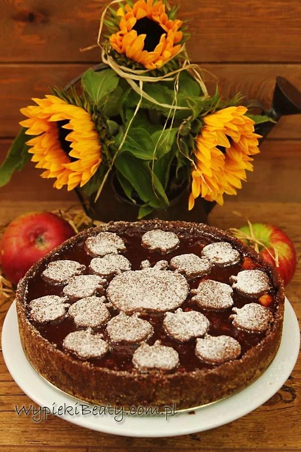 czekoladowa szarlotka chocolate apple pie