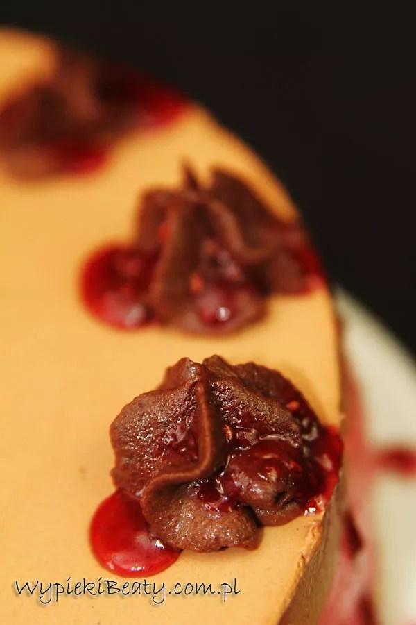 malinowo-czekoladowy sernik na zimno3
