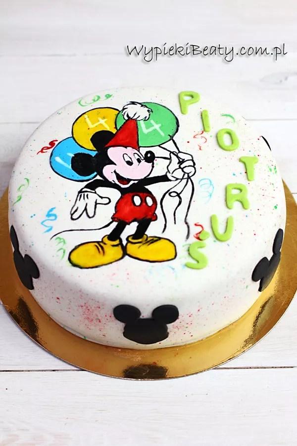 tort z Myszką Miki Piotrusia