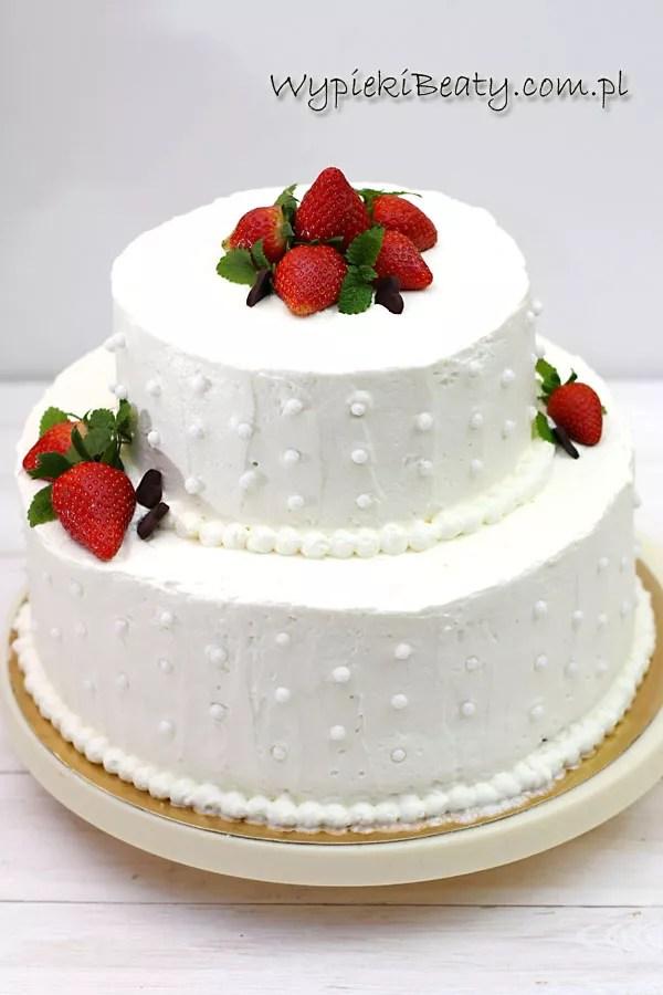 kremowy tort weselny