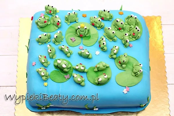 tort z żabkami 1