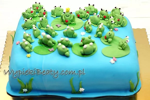 tort z żabkami 2