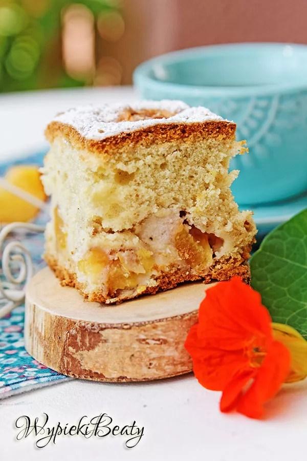 puszyste ciasto z brzoskwiniami_7