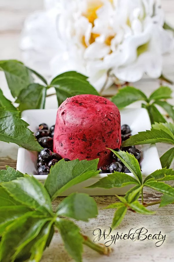blueberry semifreddo