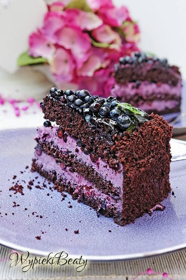 tort czekoladowy z jagodami_9