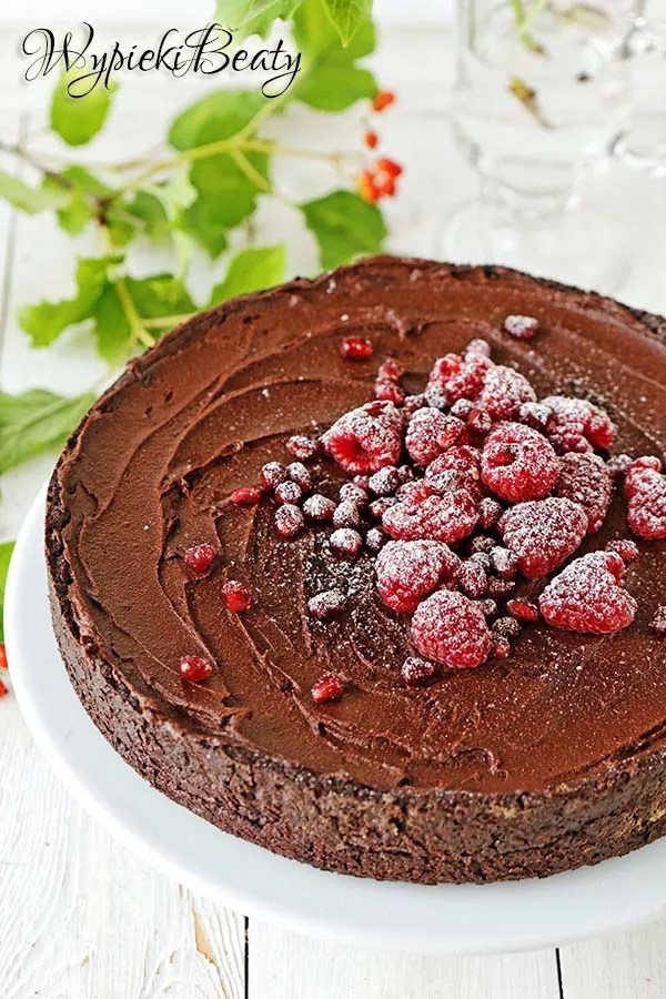 chocolate rasberry tart