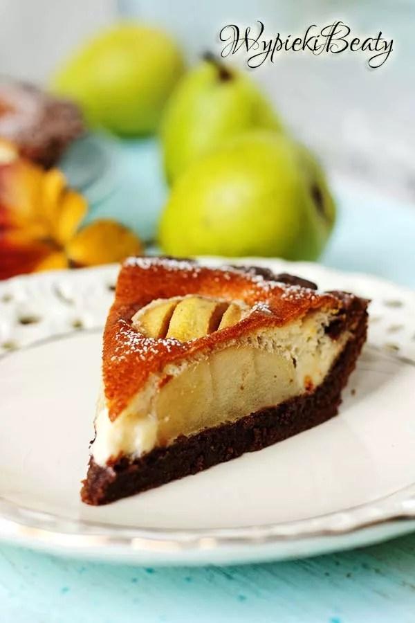 czekoladowa tarta z gruszkami_11
