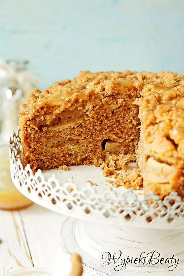 ciasto z jabłkami i toffee 10