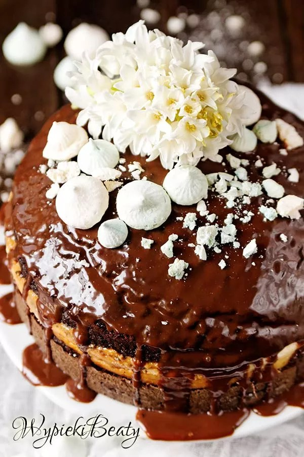 torcik czekoladowy z sernikiem 2