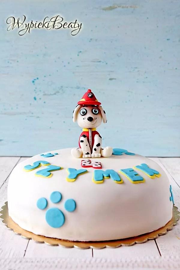 tort czekoladowy z psim patrolem 1