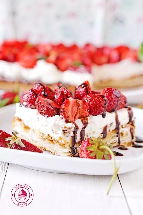 ciasto francuskie z truskawkami 7