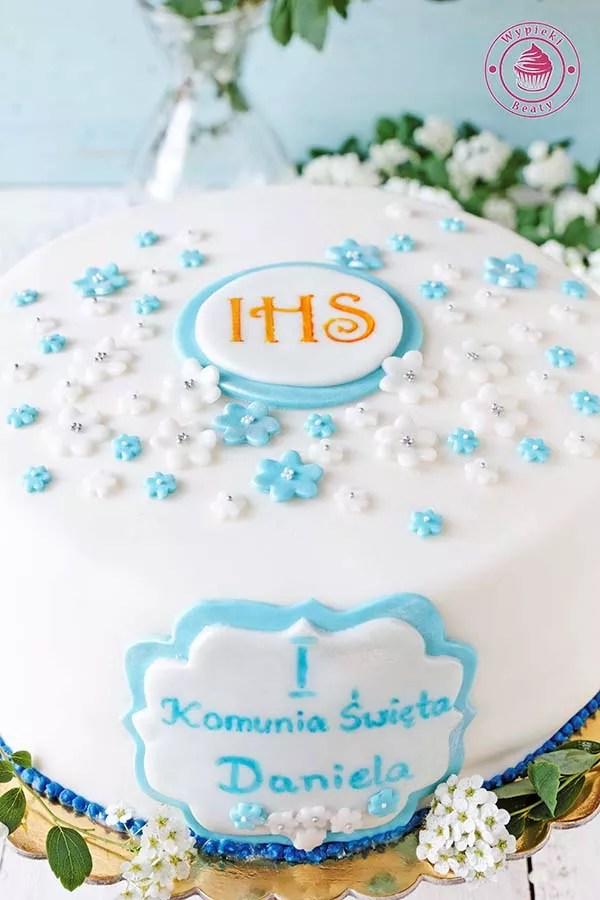 cytrynowy tort komunijny 3