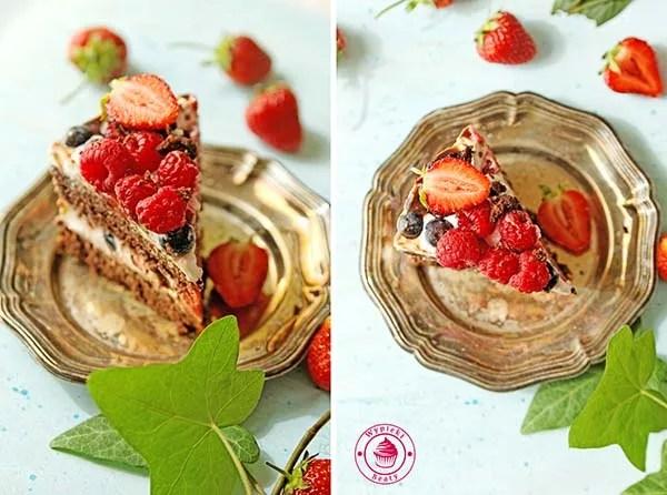 dietetyczne ciasto czekoladowe z owocami 11