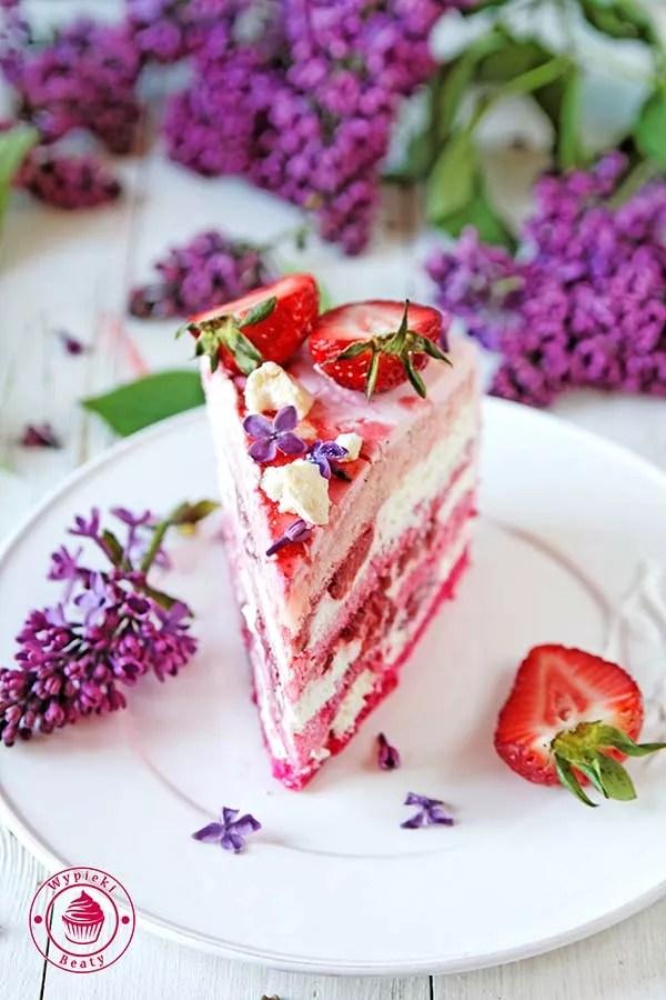 truskawkowy tort ombre