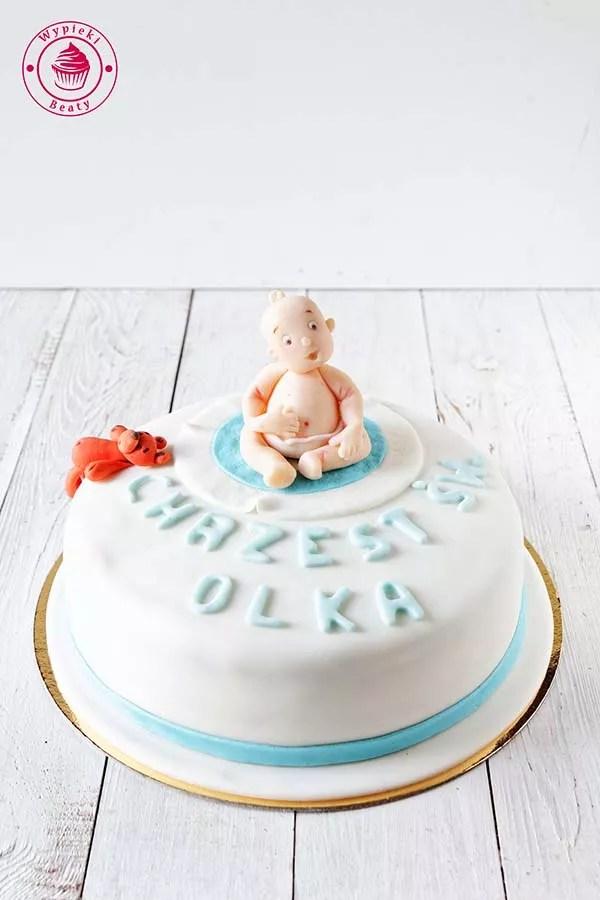tort na chrzest olka 1