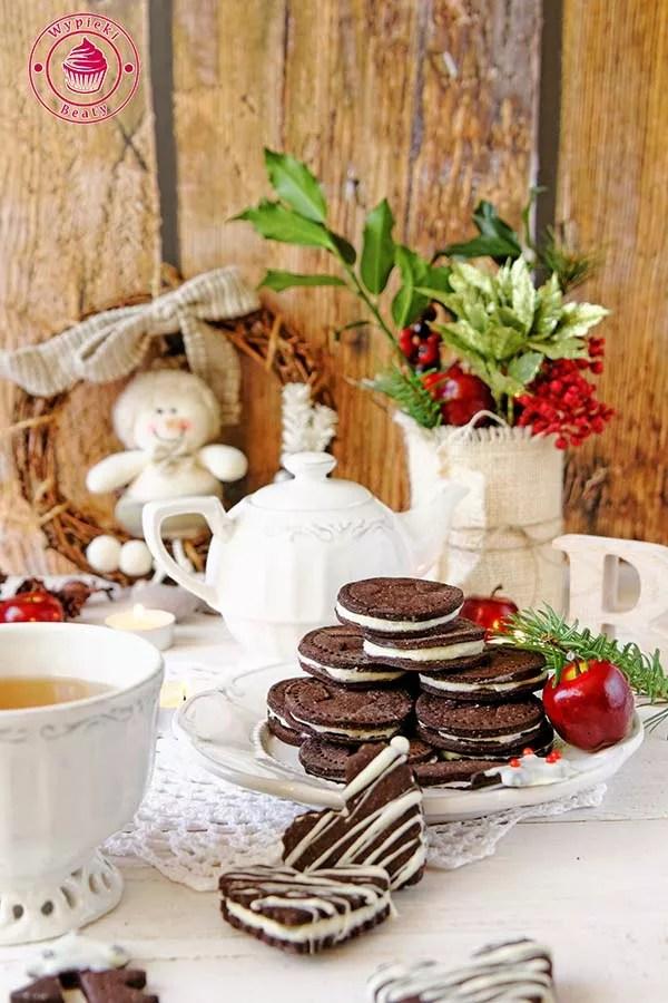 ciasteczka czekoladowe z kremem