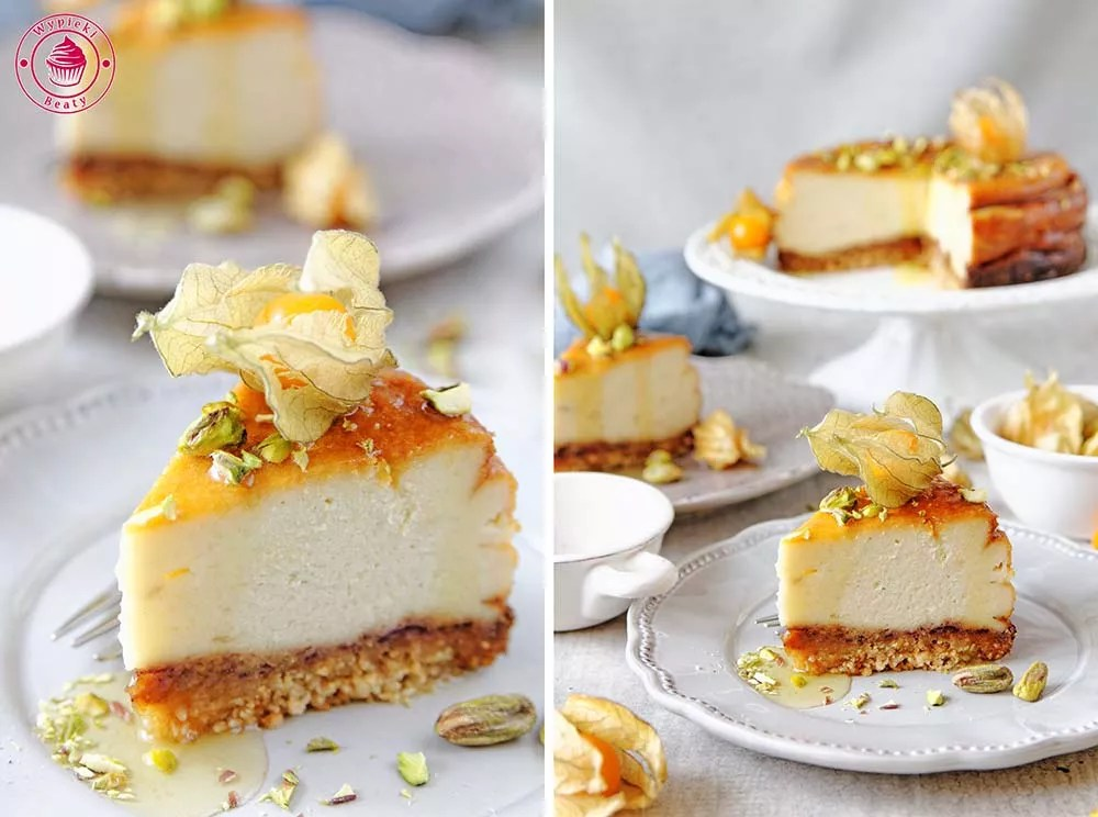 sesame and dates cheesecake