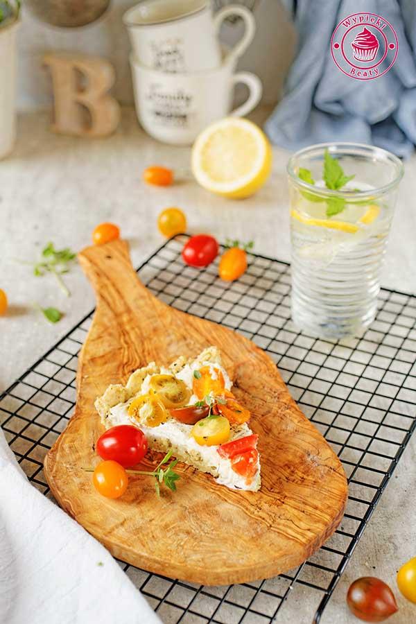 tarta twarogowo-pomidorowa