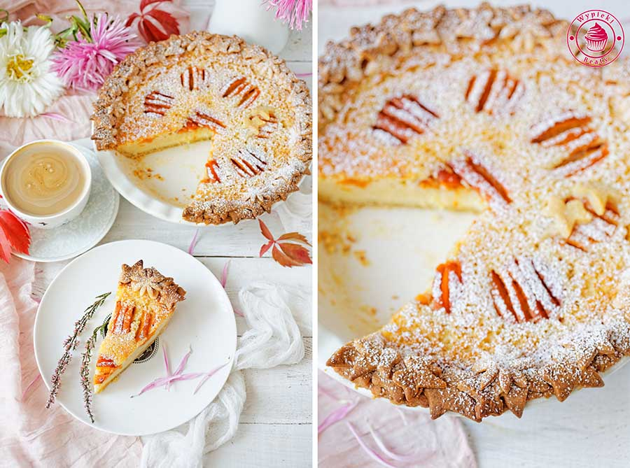 buttermilk pie with apricots
