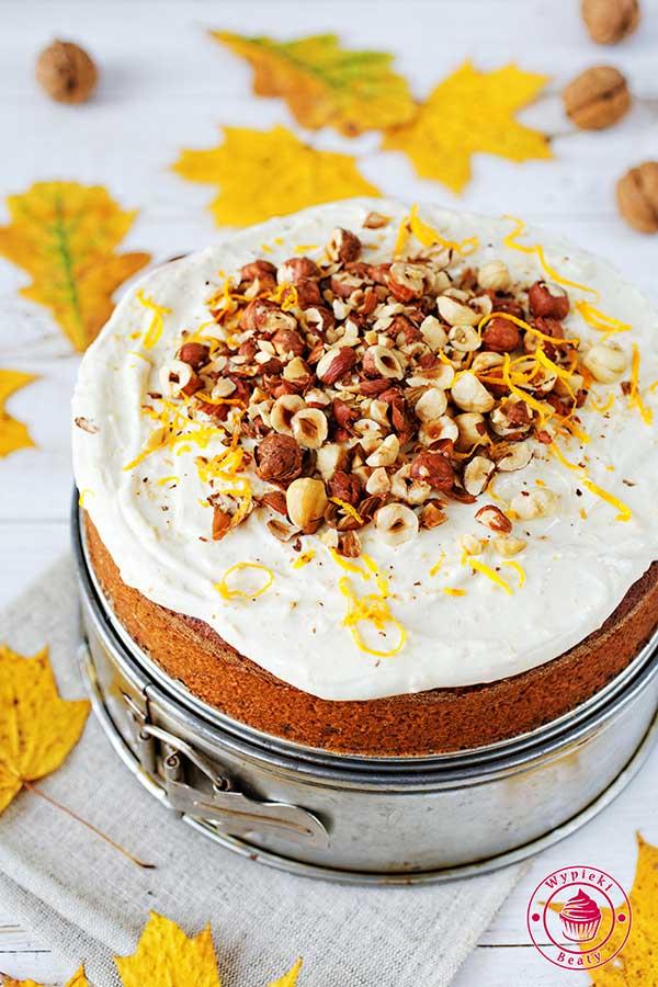 ciasto korzenne z pomarańczą i kremem