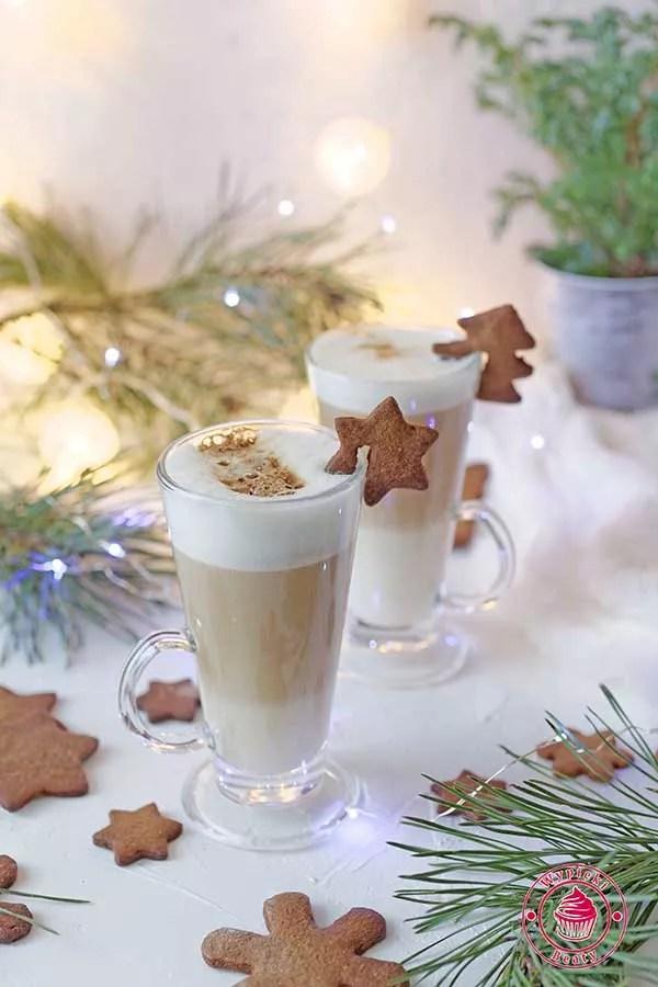 świąteczna kawa latte